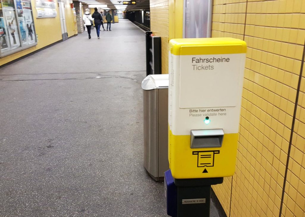 Composteur métro Berlin
