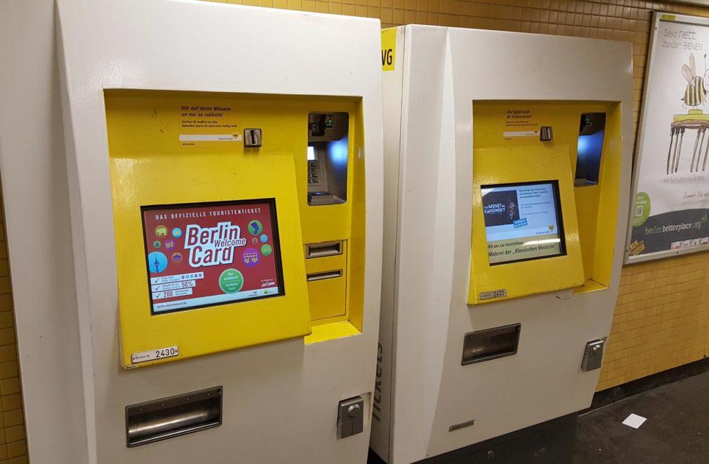 Distributeur de tickets métro Berlin