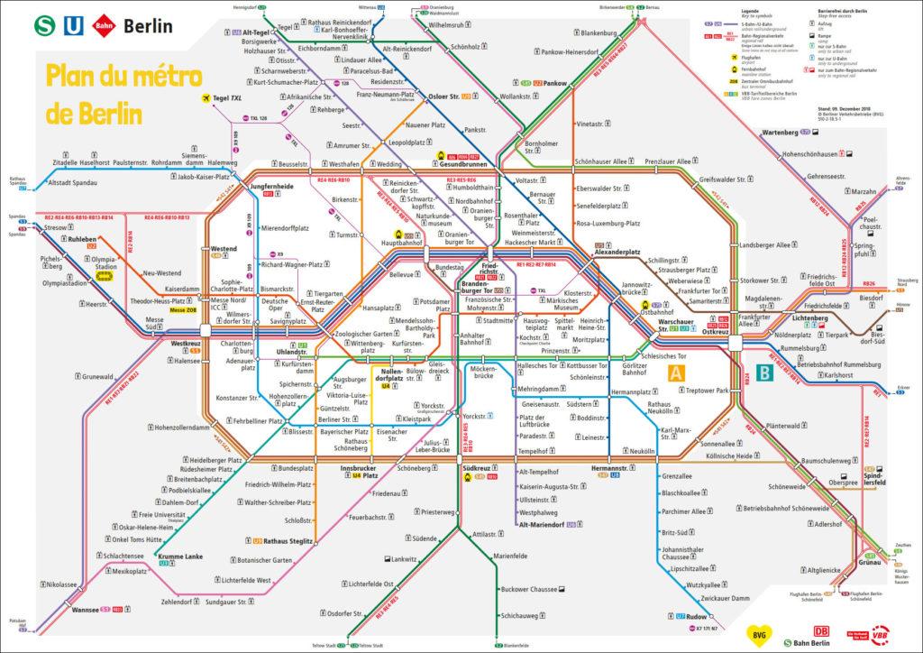 Plan métro Berlin